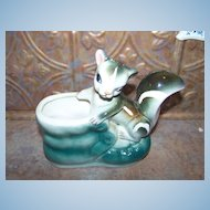 Vintage Pottery Planter  Skunk in Shoe