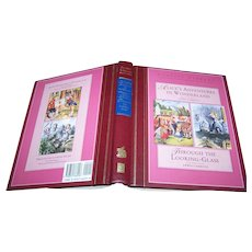 Alice In Wonderland Through The Looking - Glass Lewis Carrol Hard Cover Book