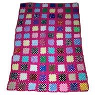 A Pretty Hand Crochet Small Granny Square Style Blanket