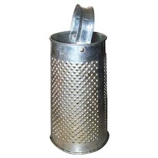 Vintage Retro Era Aluminum Shredder or Grater Kitchenware Tool or DIY Up-Cycle Project