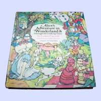 "Hard Cover Book "" Alice's Adventures in Wonderland & Through The Looking Glass "" By Lewis Carroll"