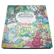 "Hard Cover Book "" Alice's Adventures in Wonderland & Trough The Looking Glass "" By Lewis Carroll"