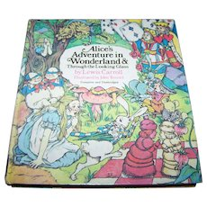 """Hard Cover Book """" Alice's Adventures in Wonderland & Through The Looking Glass """" By Lewis Carroll"""