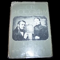 """Hard Cover Vintage Book """" On Photography"""" by Susan Sontag"""