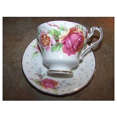 Pottery & Glass Noritake Kent 4 Tea Cups & 6 Saucers Silver Pink Flower Green Leaves Lustrous