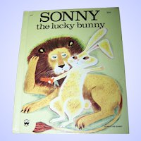 Vintage Children's Wonder  Book Sonny the lucky bunny
