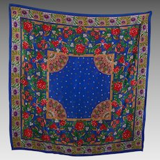The Most Beautiful Echo SIlk Scarf  Mixed Bright Cheerful Floral Pattern