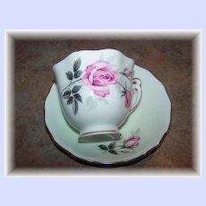 Colclough Bone China Tea Cup & Saucer Rose Motif