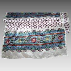 Lovely Long Designer Signed ECHO Rectangular Floral Pattern Fashion Scarf