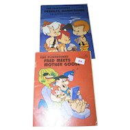 Two Vintage Collectible  Soft Cover Flinstones Childrens Books