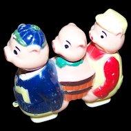 Vintage Louis MARX & Company MI Hong Kong Three Little Pigs Ramp Walker Toy