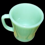 Fire King Anchor Hocking   Made In USA D Handle Jadite Green Glass  Mug