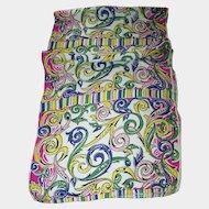 Lovely Long Rectangular Crepe Silk Blend Ladies Fashion Scarf Colorful Fun Pattern