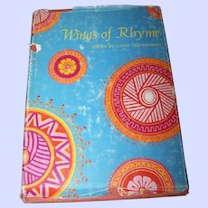 """Hard Cover Book """" Wings of Rhyme """"  C. 1967"""