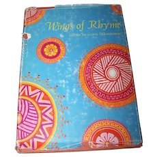 "Hard Cover Book "" Wings of Rhyme ""  C. 1967"