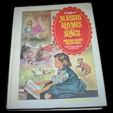 """Charming Hard Cover Children's Book """" Best Loved Nursery Rhymes and Songs """" by Parent's Magazine"""
