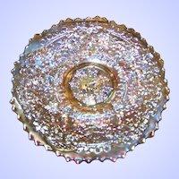 Fenton Pre Logo Cherry Chain Small Marigold Carnival Saucer Plate