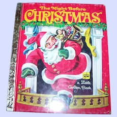 """Children's Book """" The Night Before Christmas """"  By Clement C. Moore Golden Press Western Publishing"""