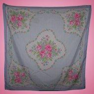 Old Fashion Print Stripe Mixed Spring Flowers Ladies Fashion Scarf Avon 1989