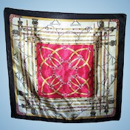 A Small Decorative Equestrian Tack  Rod  Scarf Handkerchief