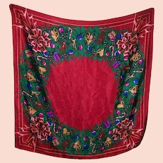 Ho Ho Ho Lovely Cheerful Large Christmas Themed Ladies Fashion Scarf