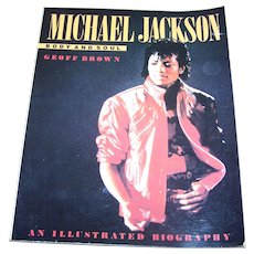 """Collectible Soft Cover Book """" Michael Jackson """" Body and Soul Geoff Brown"""