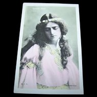 Vintage Real Photo Glossy Postcard Post Card Famous Actress Gertrude Elliot