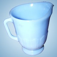 Collectible Vintage Blue Delphite Glass Milk Pitcher PYREX Pie Crust Pattern
