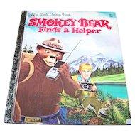 Hard Cover a Little Golden Book Smokey Bear Finds a Helper