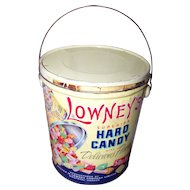 Vintage Advertising Tin Litho  Pail Bucket Lowney's Superior Hard Candy CANADA