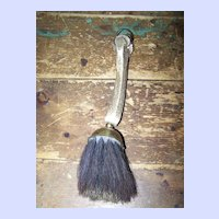 Vintage Antler Brass and Horse Hair Brush