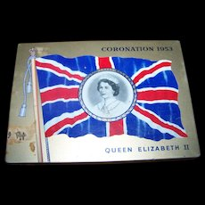Advertising Royalty Coronation Tin 1953 Queen Elizabeth II MacDonald 's Export Tobacco Cigarette Case