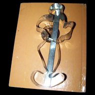 A Large Retro Era Mickey Mouse Figural Tin Cookie Cutter Walt Disney Productions