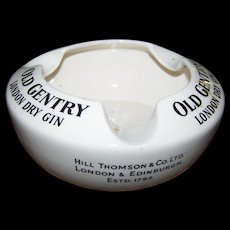 Such A Great Find An Advertising Old Gentry London Dry Gin Ashtray Wade England