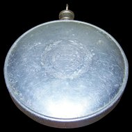 Militaria WW1 US Pressed Aluminum Canteen / Hot Water Bottle  Worcester 1915