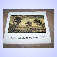 "A Vintage Soft Cover Booklet "" Ralph Albert Blakelock "" C. 1987"