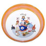 Vintage Children's Baby Feeding Bowl Dish Epiag D.F. Czechoslovakia