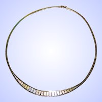 925 Sterling Silver Tri-Color Ladies Fashion Necklace Oh So Pretty