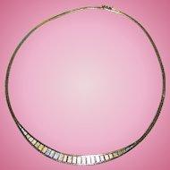 925 Sterling Silver Tri-Color Ladies Fashion Necklace Oh So Pretty