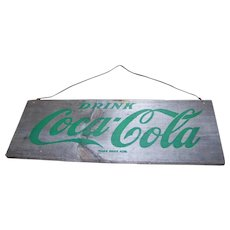 An Old Advertising Drink Coca Cola Wood Crate Up-cycled Sign