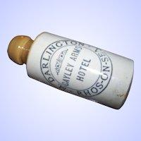 Old Advertising M DARLINGTON  RHOS ON SEA Cayley Arms Hotel  Ginger Beer Bottle