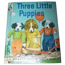 Three Little Puppies Rand McNally A Real Live Animal Children's Book Wonderful Photography