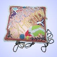 Souvenir Iroquois Native American Beaded Whimsy Pin Cushion 1927 Toronto Exhibition