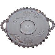 Vintage Cornflower Candlewick Hughes Handles Dish Imperial Glass