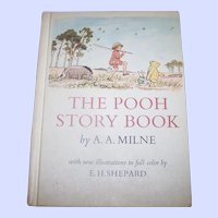 "A Vintage Hard Cover Children's Book "" The POOH Story Book "" A.A. Milne"