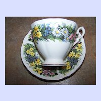Mixed Floral Motif Royal Standard Vintage Tea Cup & Saucer