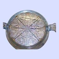 Lovely Vintage Fire King Blue Sapphire Philbe Glass Trivet Anchor Hocking