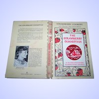 "Soft Cover Spiral Bound CookBook Cook Book "" The Strawberry Connection "" Flavor Fact Folklore"