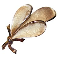 Lovely Mid-Century Modern Designer Signed Trifari Feather  Bouquet Pin Brooch