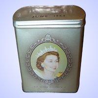 1953 Coronation of HM Queen Elizabeth II Souvenir Tin by Fox's Glacier Mints Royal Souvenir Royalty Coronation